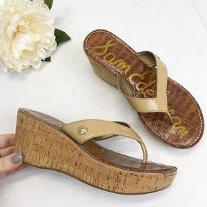Sam Edelman Romy Platform Thong Sandals Sz 7
